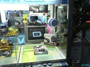クレーンゲーム筐体内 テレビゲーム機