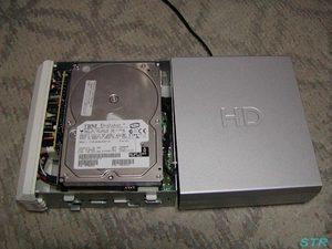 外付けハードディスクドライブを譲ってもらった