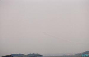 瀬戸大橋でブルーインパルスを見てきました