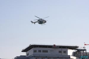 病院から飛び立つオリーブ