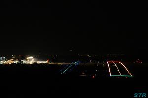 高山航空公園から見た高松空港の夜景