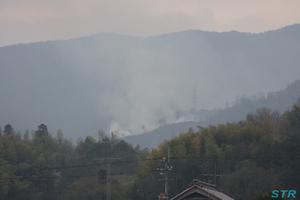 まんのう町尾瀬山で火災