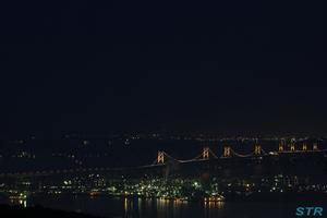 番の州工業地帯の夜景