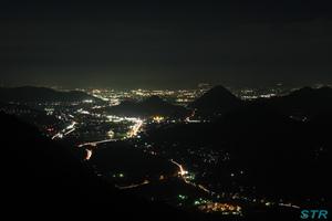 高松方面の夜景
