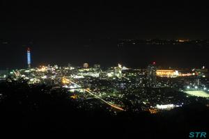 丸亀青ノ山で夜景を見る