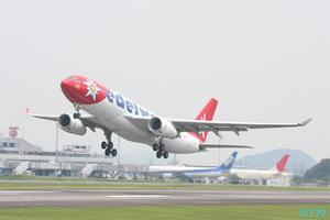 高松空港からスイスへのチャーター便初運航