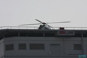 回生病院でオリーブIIの離陸を見た