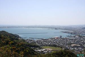 日峯神社からの眺め