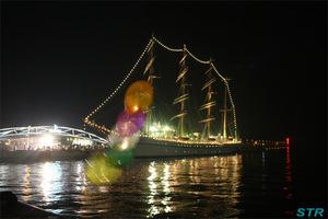 風船と日本丸