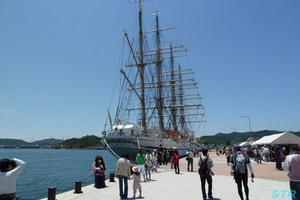 日本丸セイルドリル in たまの港フェスティバル