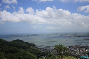 雨の小松島港祭りブルーインパルス展示飛行予行