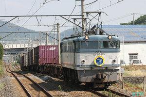 「第17回JR貨物フェスティバル」告知ヘッドマーク付き貨物列車