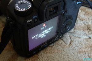 EOS40D エラー画面