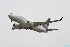 高松空港でコンチネンタル機を見る