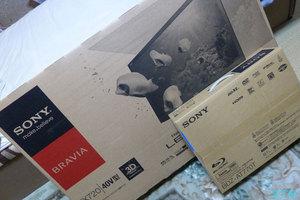 ソニーのテレビとブルーレイレコーダーを買いました