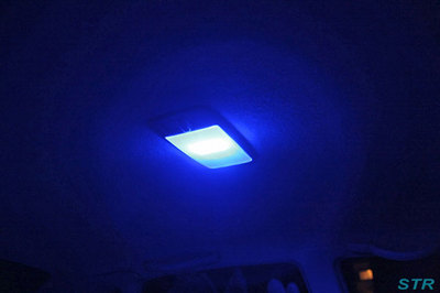 車のルームランプを青色LEDに交換
