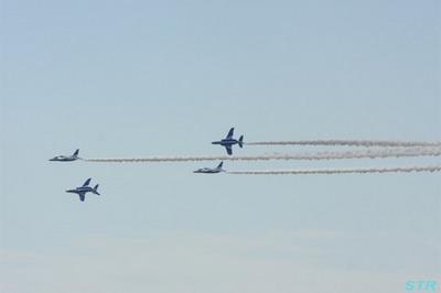 国際航空宇宙展 ブルーインパルス展示飛行予行