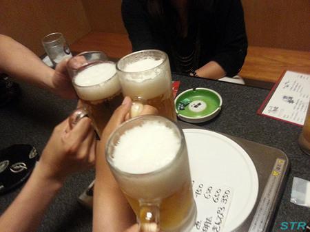 平日飲み会からのLINEインストール
