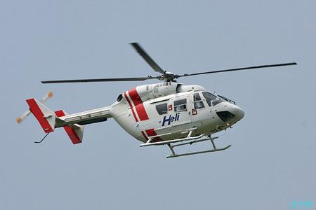 高松空港で(ドクター)ヘリを見る