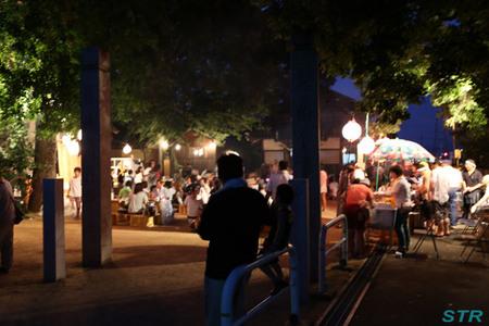 横津八坂神社の夕涼み2013