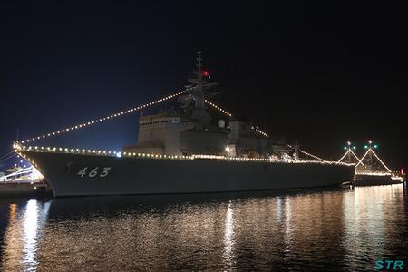 海上自衛隊 うらが・やくしま・ひらしま 電灯艦飾