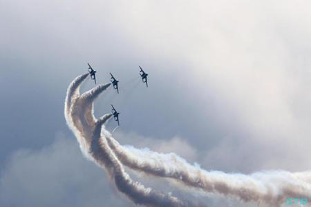 土佐清水分屯基地開庁20周年記念行事 ブルーインパルス展示飛行