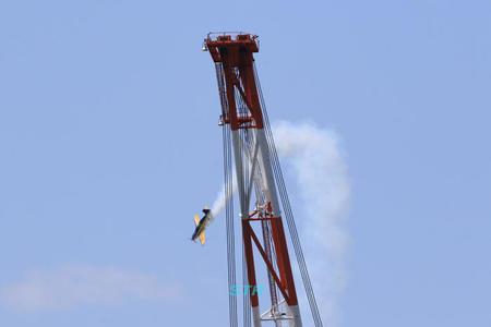 今治造船新ドッグ見学会 ウィスキーパパ展示飛行