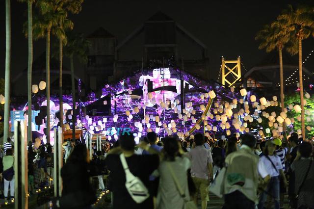 瀬戸大橋開通30周年記念 輝かナイト プロジェクションマッピング