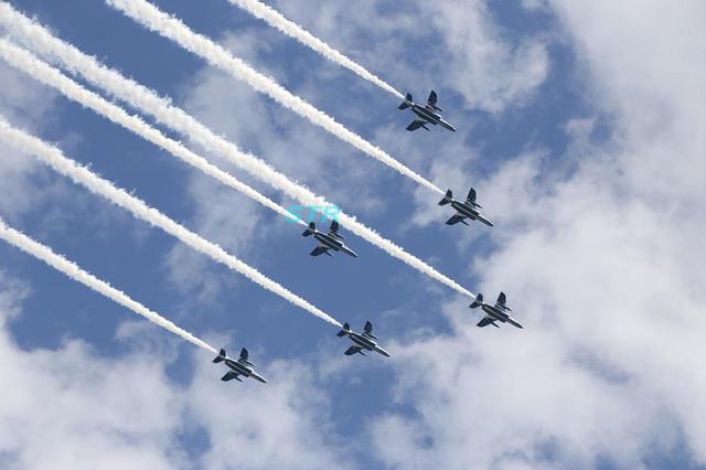 第35回全国都市緑化やまぐちフェア 山口ゆめ花博 ブルーインパルス展示飛行