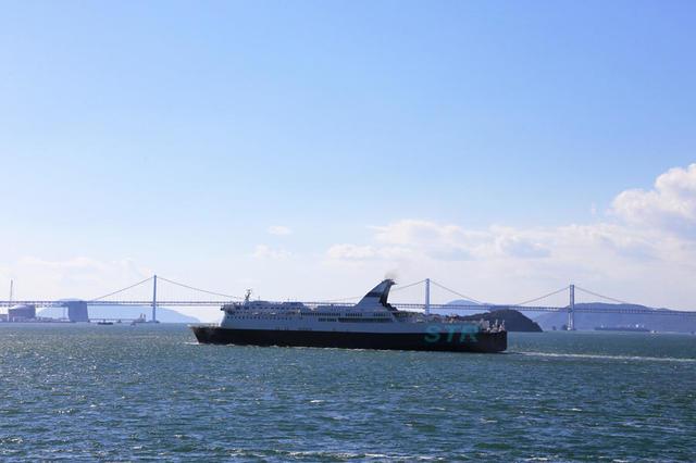 防衛省チャーター貨客船「はくおう」坂出へ