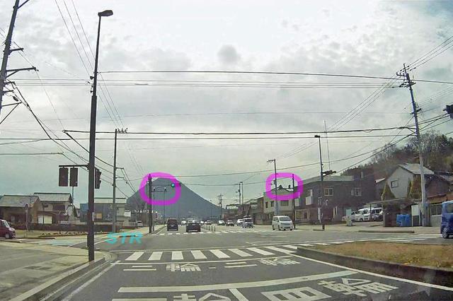 坂出市花町・冨士見町 県道19号線のNシステム