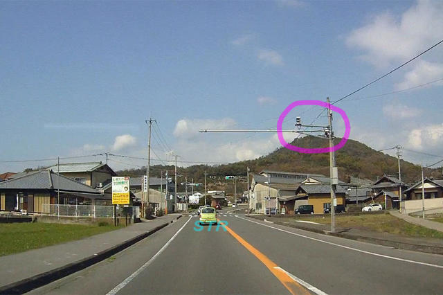 宇多津町東分 県道194号線のNシステム
