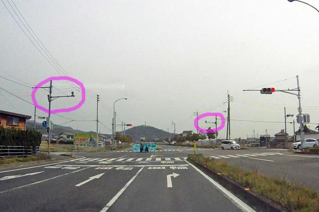 綾川町陶 国道32号線のNシステム