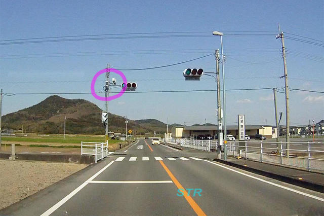 さぬき市寒川町神前 県道37号線のNシステム