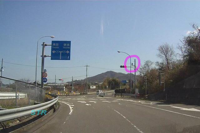 さぬき市津田町鶴羽 国道11号線 津田東IC前のNシステム