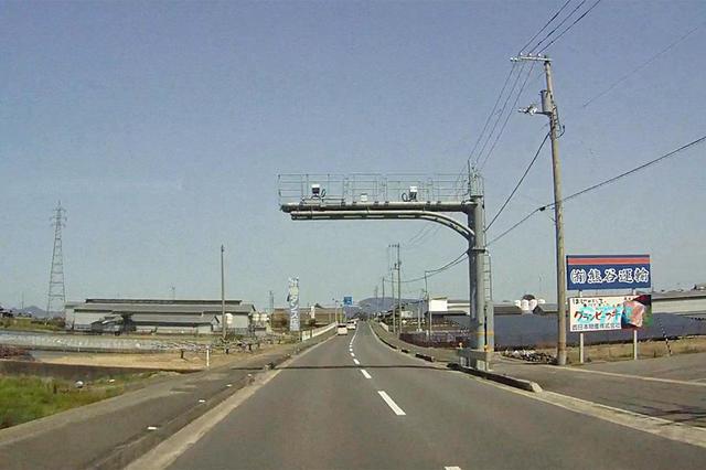 観音寺市粟井町 国道377号線のNシステム