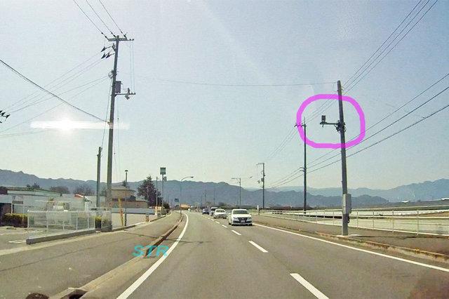 観音寺市柞田町 県道21号線のNシステム