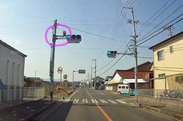 高松市川部町 県道44号線のNシステム