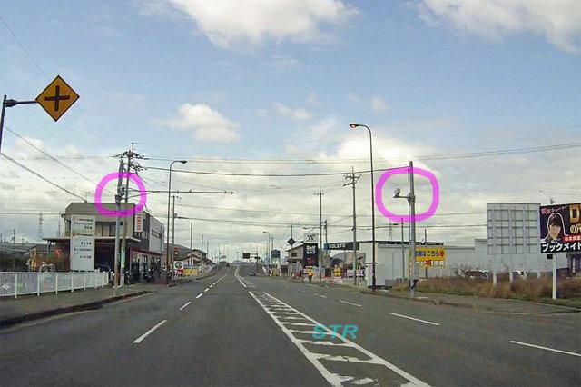 高松市春日町 県道272号線のNシステム