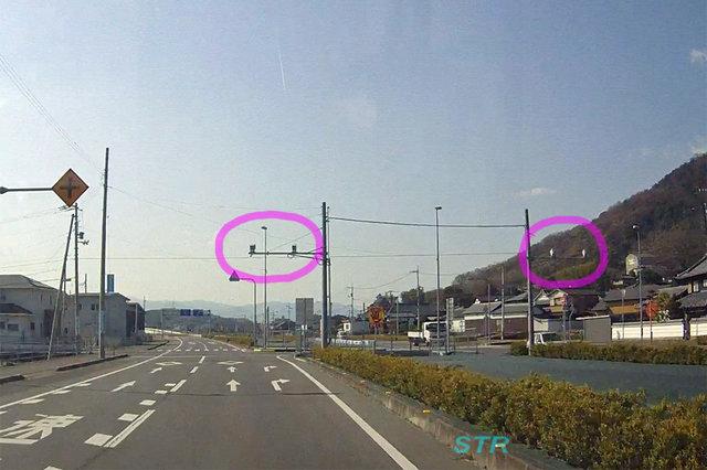 高松市西山崎町 県道44号線のNシステム