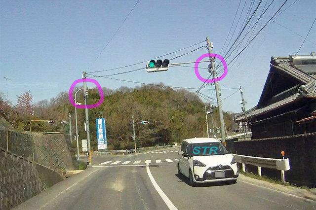 三豊市高瀬町佐股 県道24号線のNシステム