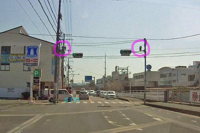 三木町鹿伏 県道38号線のNシステム