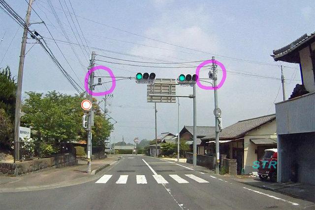 観音寺市大野原町井関 県道8号線のNシステム