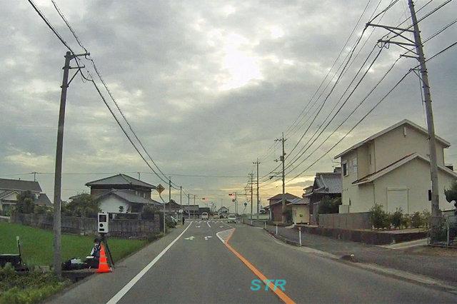 まんのう町東高篠 県道47号線での可搬式オービスによる取締り