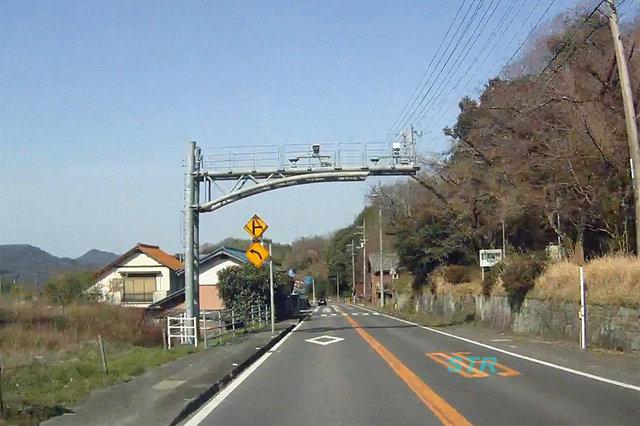 三豊市財田町財田上 国道32号線のNシステム
