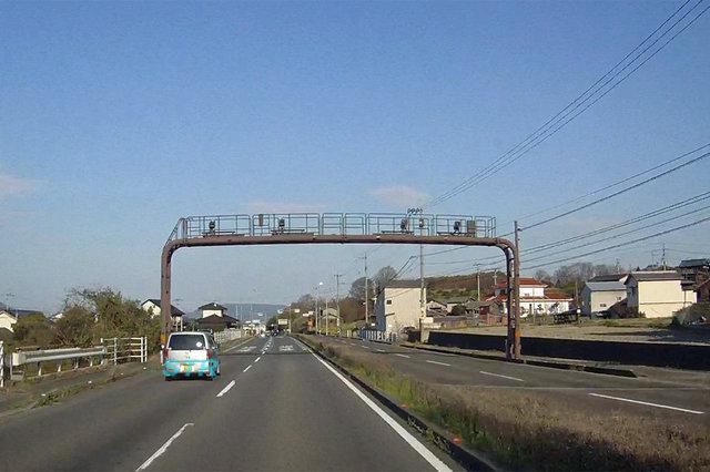 高松市中山町 県道161号線のNシステム