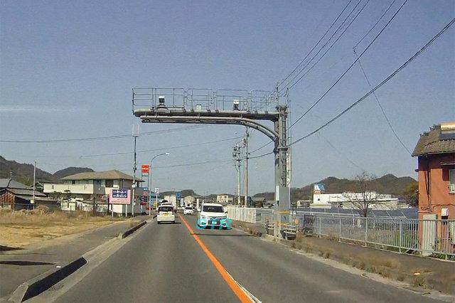 三豊市豊中町比地大 県道224号線のNシステム