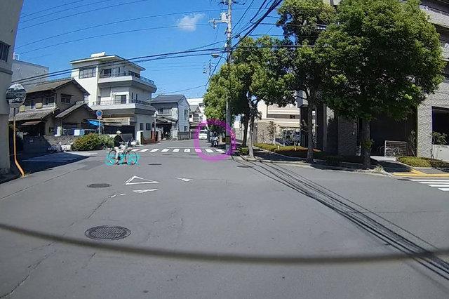 高松市浜ノ町 ロイヤルガーデン高松駅西前での一時不停止違反取締り