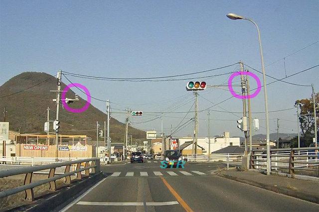 丸亀市飯野町東二 県道18号線のNシステム
