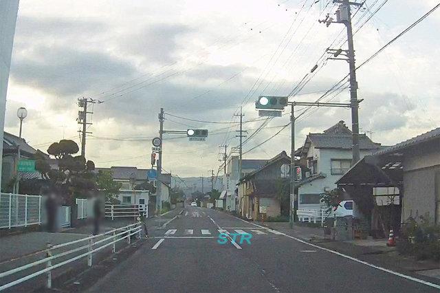 琴平町上櫛梨 県道206号線 象郷小学校前での可搬式オービスによる速度違反取締り